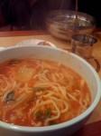 Never had kimchi kalkuksu before... awesome stuff