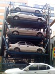 A Korean 'parking garage'... the cars move around the carousel like a vending machine