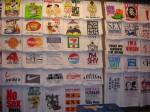 A wall full of classy t-shirts